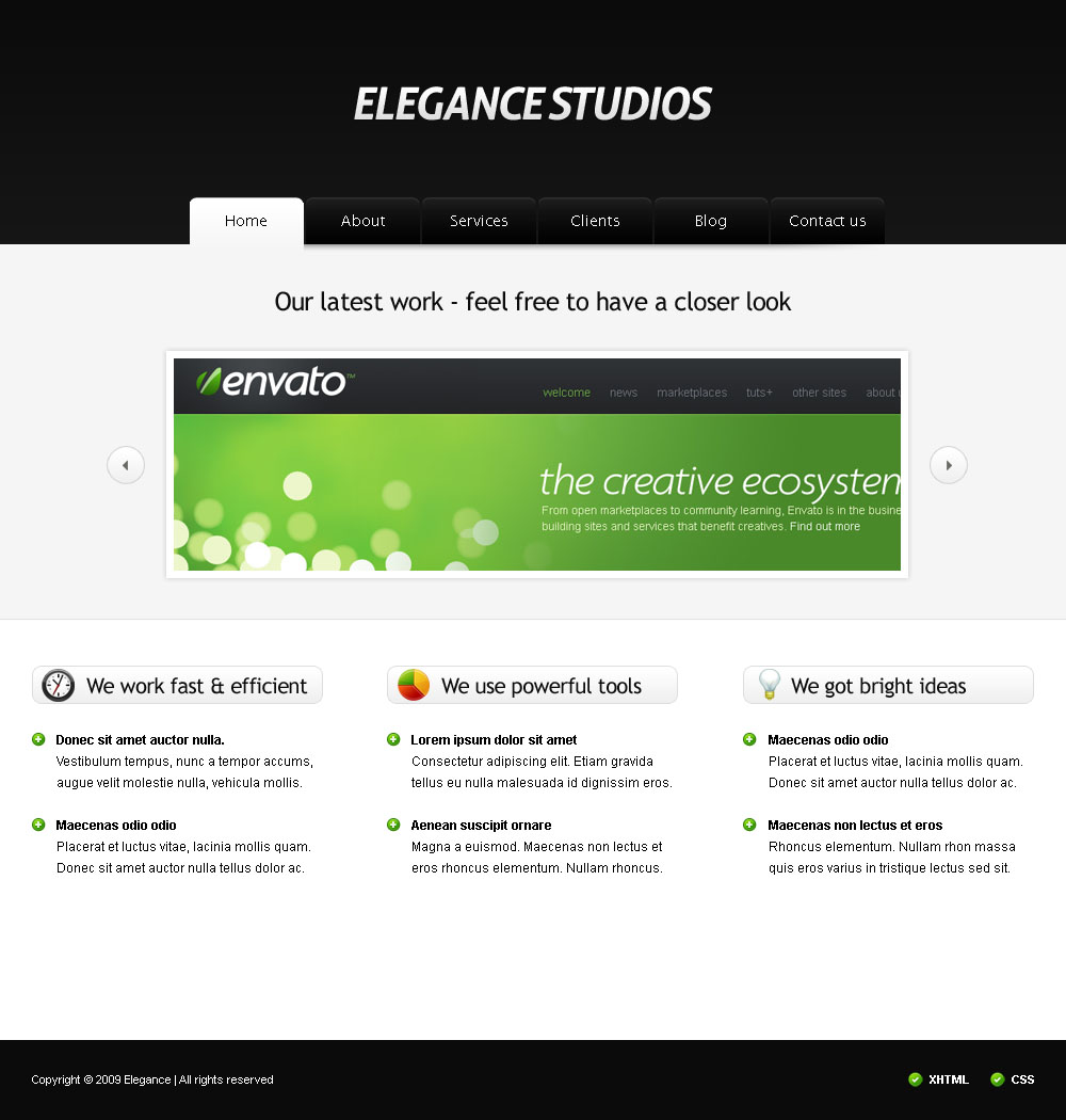 Free Download Elegance Studios HTML Template Nulled Latest Version