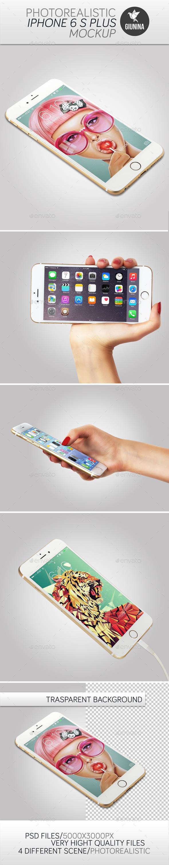 iPhone 6 S Plus Photorealistic Mockup - Graphics