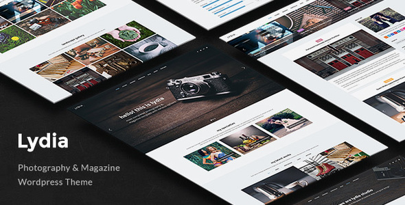 Lydia - Photography & Magazine WordPress Theme - Photography Creative