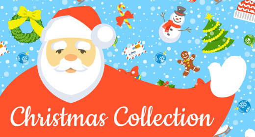 Christmas symbols and backgrounds collection