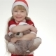Kid Girl Hugging a Teddy Bear. - VideoHive Item for Sale