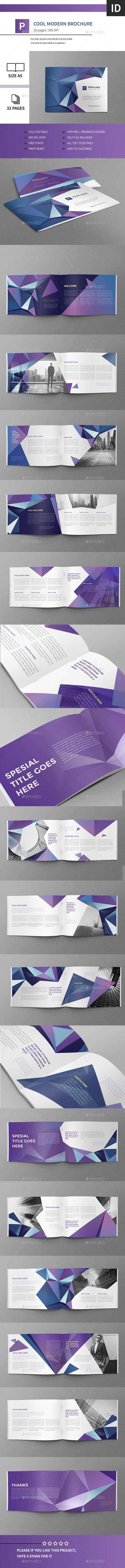 Cool Modern Brochure 32 Pages A5 Horizontal - Brochures Print Templates