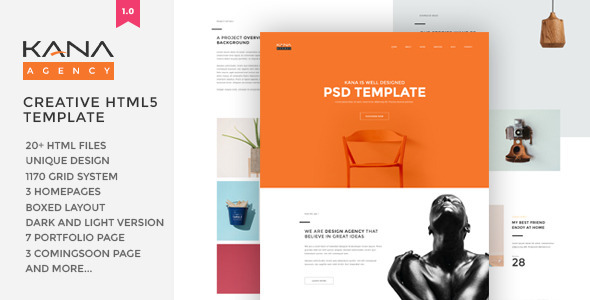 Kana – Creative Agency HTML5 Template