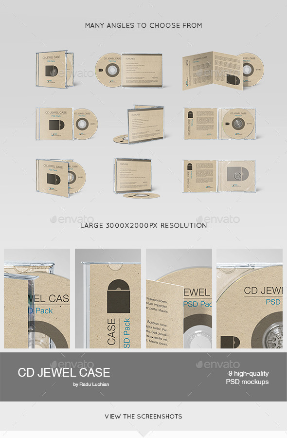 Cd Jewel Case MockUps By Raduluchian  Graphicriver