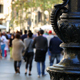 Crowded Barcelona City Center in Autumn 4K - VideoHive Item for Sale