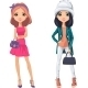 Vector Fashion Girls - GraphicRiver Item for Sale
