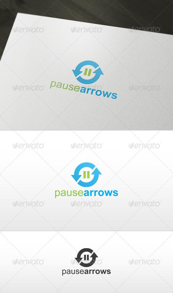 Pause Arrows Logo - Symbols Logo Templates