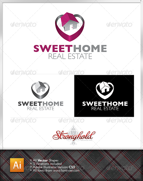 Sweet Home Real Estate Logo - Buildings Logo Templates