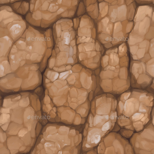 Hand Painted Rock Texture 03 - 3DOcean Item for Sale