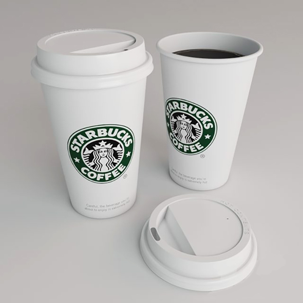 Starbucks Cup - 3DOcean Item for Sale