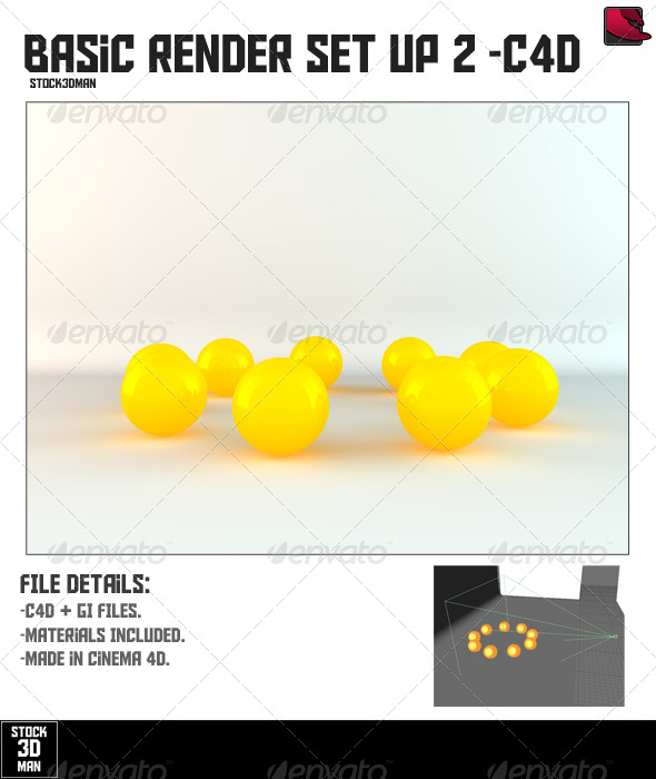 Basic Cinema 4D Render Set Up 2 - 3DOcean Item for Sale