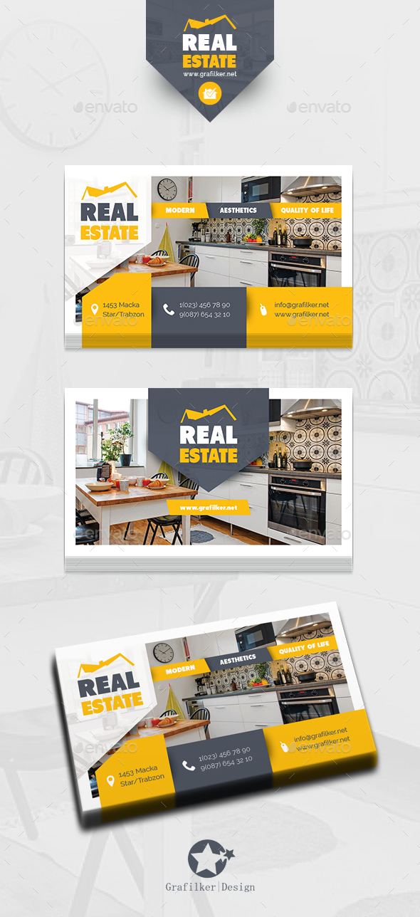Real Estate Business Card Templates - Corporate Business Cards