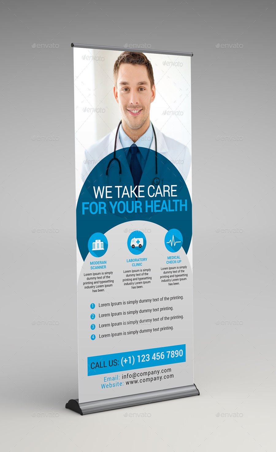 medical health rollup banner by arsalanhanif