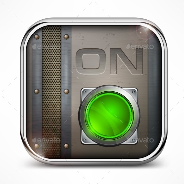 On Switch Button - Miscellaneous Vectors