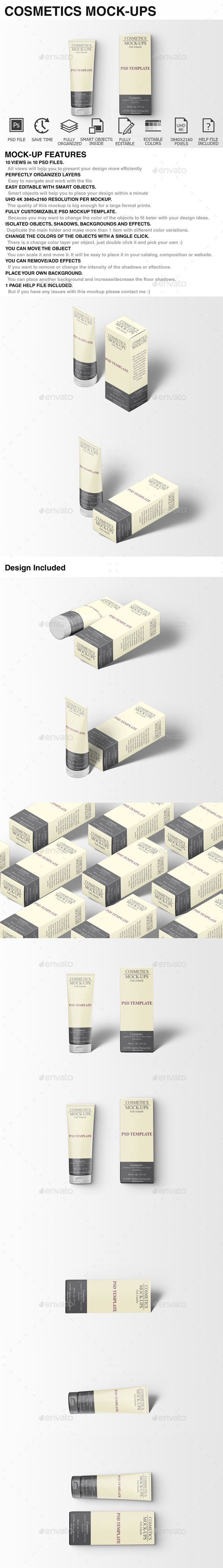 Cosmetics Mockup - Beauty Packaging