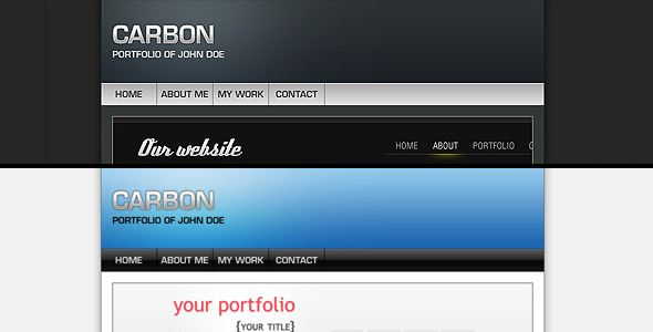 Carbon One Page Portfolio - Portfolio Creative