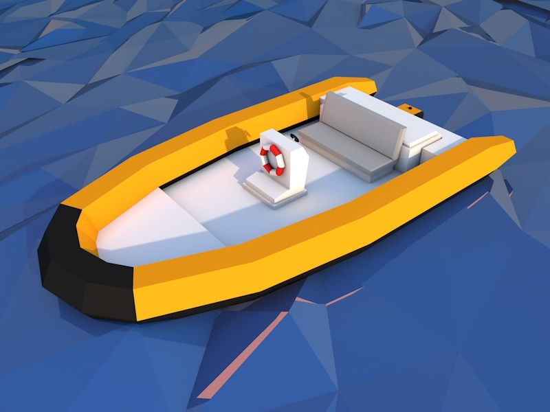 Low Poly Boat By Increativ 3docean