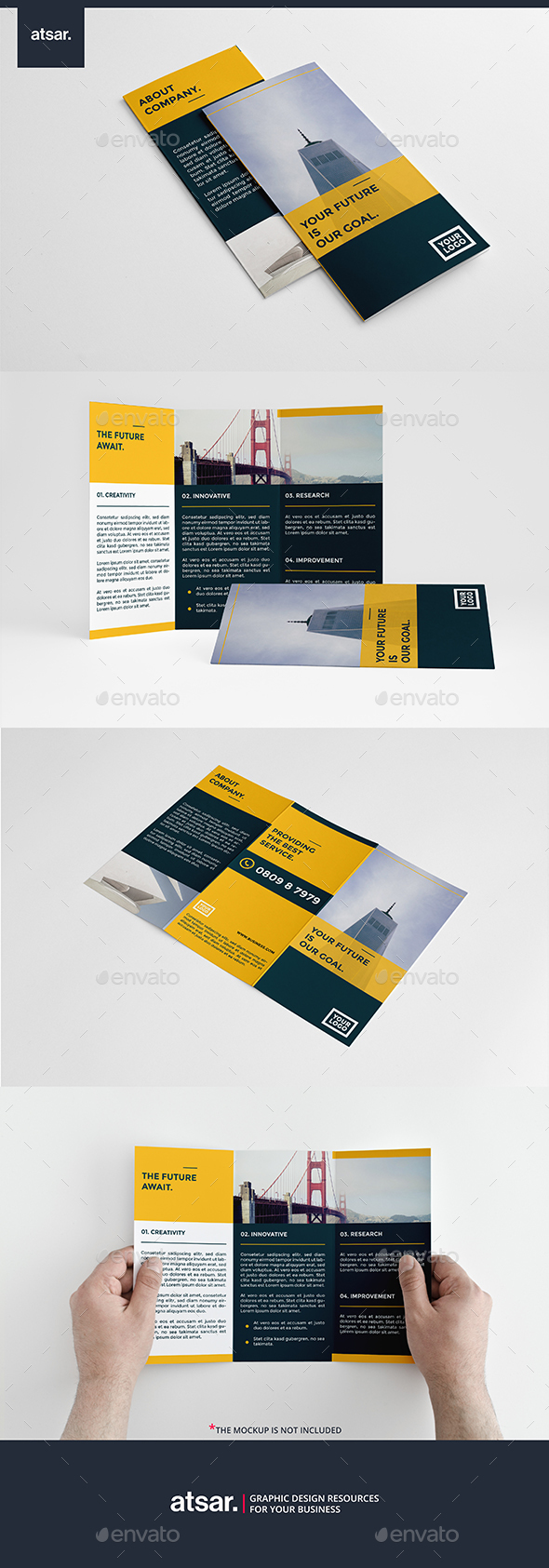 Modern Multipurpose Trifold - Corporate Brochures