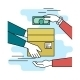 Download Vector Payment by Cash for Express Delivery