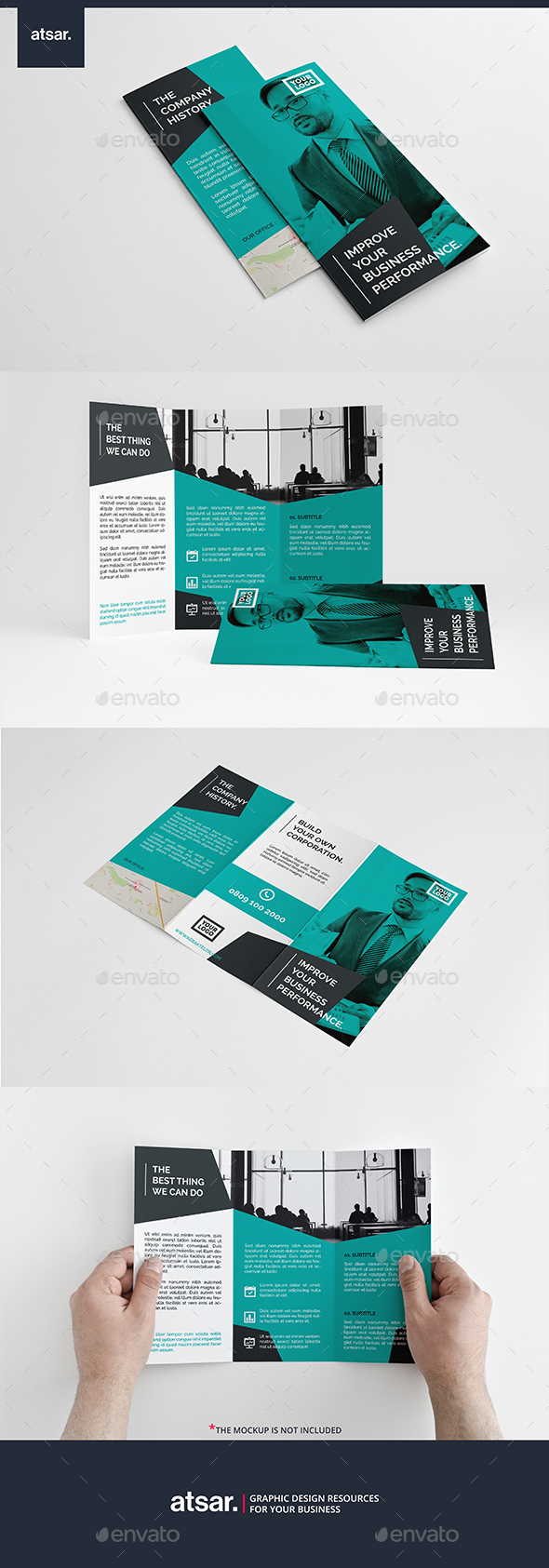 Modern Elegant Trifold - Corporate Brochures