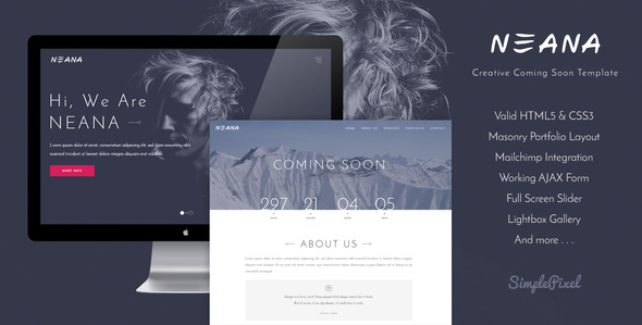Neana – Creative Coming Soon Template
