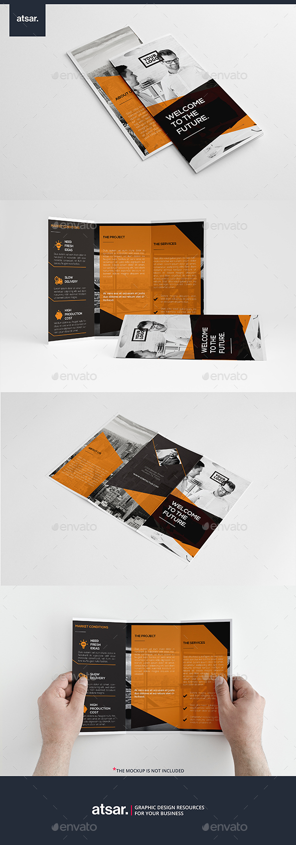 Clean Corporate Trifold - Corporate Brochures