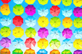 Colorful umbrellas urban street decoration - PhotoDune Item for Sale