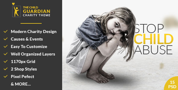 The Child Guardian – Charity PSD Template
