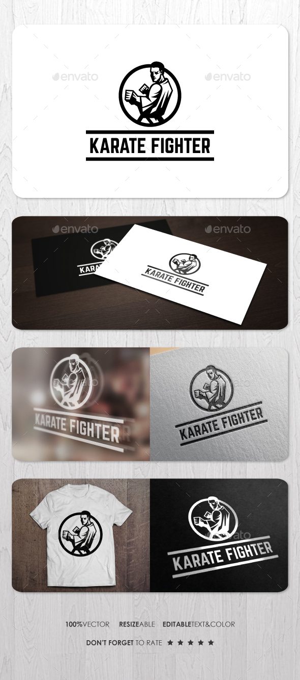 Karate Fighter Logo - Humans Logo Templates