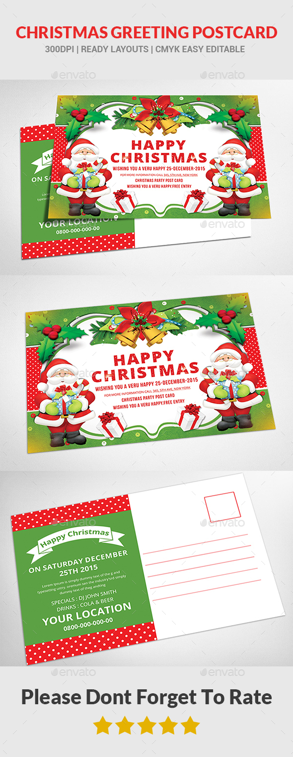 Christmas - Postcard Templates - Cards & Invites Print Templates