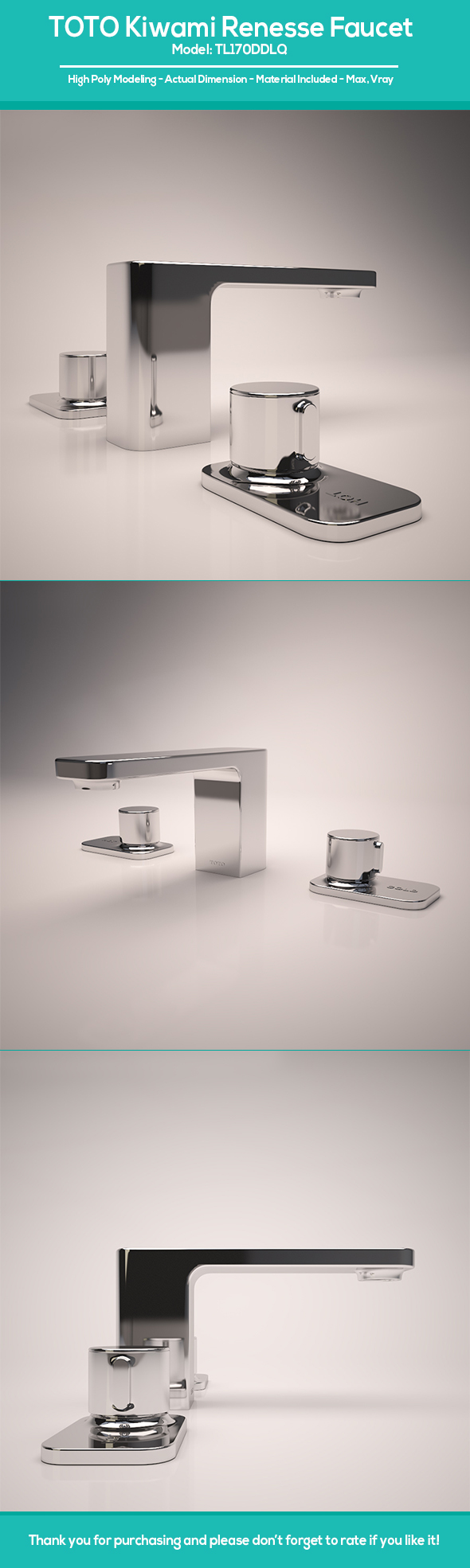 TOTO Kiwami Renesse Faucet - 3DOcean Item for Sale