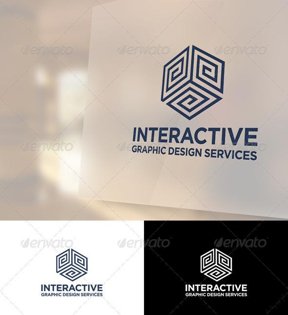 Interactive Logo Template - Vector Abstract