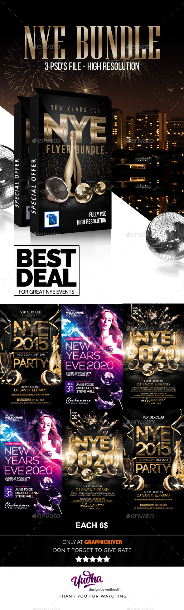 New Years Flyer Bundle - Clubs & Parties Events