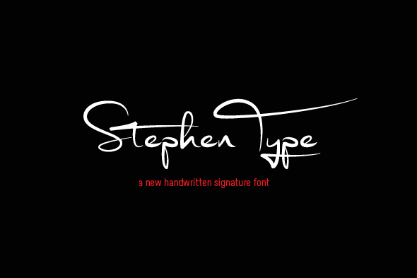 Stephen Type font - signature font - Script Fonts