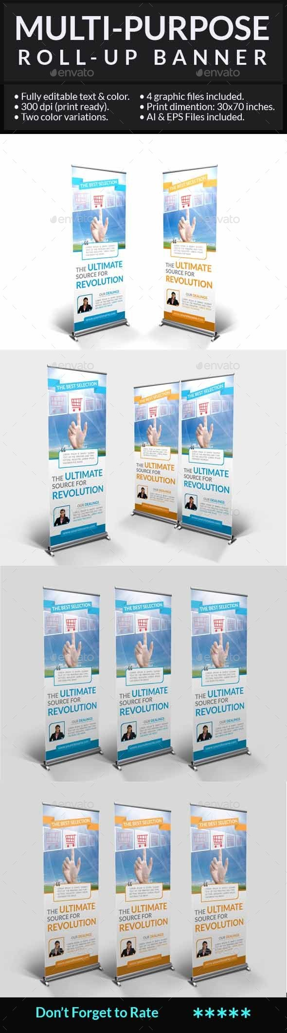 Multi-Purpose Roll-Up Banner - Signage Print Templates