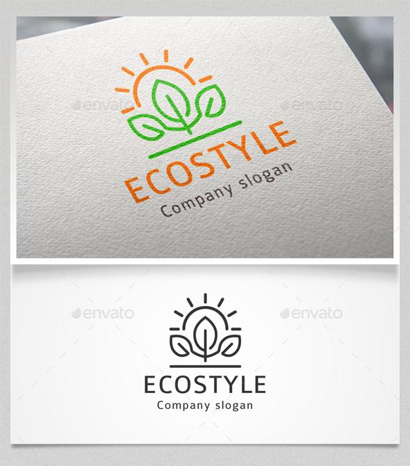 Eco Style Logo Template - Nature Logo Templates