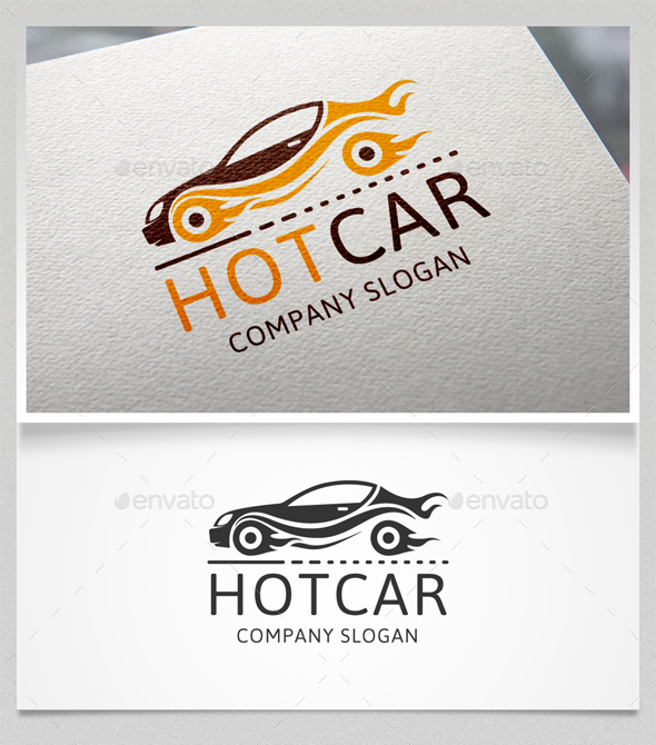 Hot Car Logo Template - Objects Logo Templates