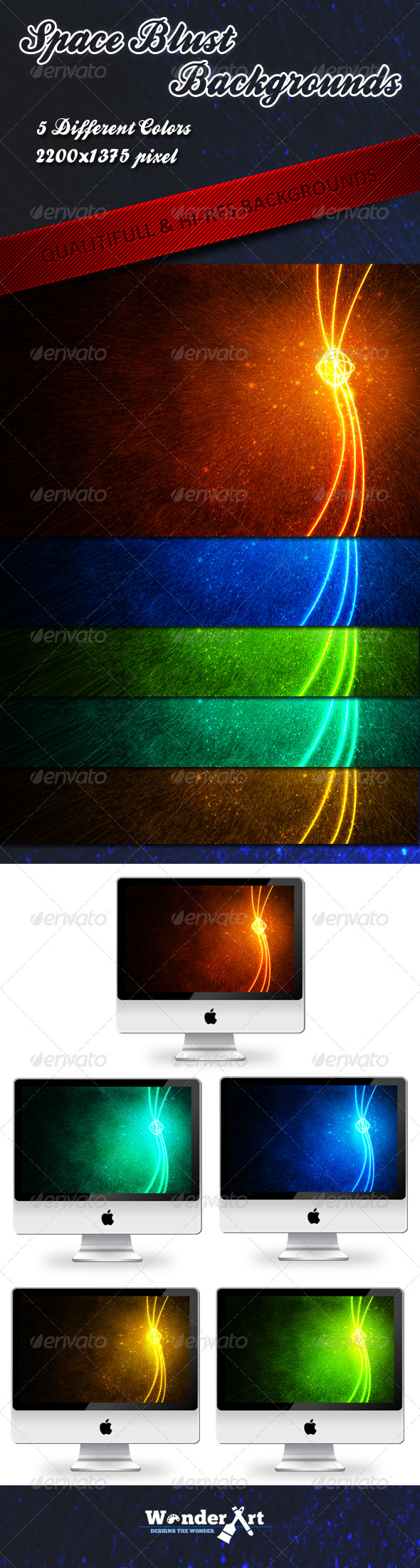 Space Blust Background - Abstract Backgrounds