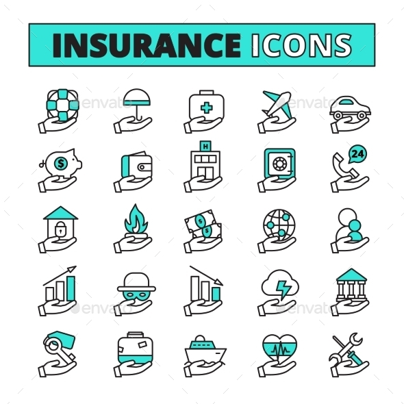Insurance Icons Set  - Business Icons