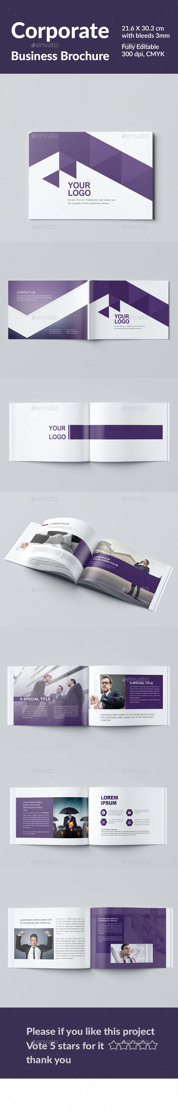 Corporate  Business Brochure - Magazines Print Templates