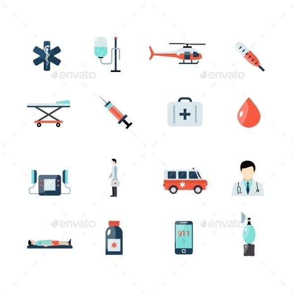 Emergency Paramedic Icons Set - Miscellaneous Icons