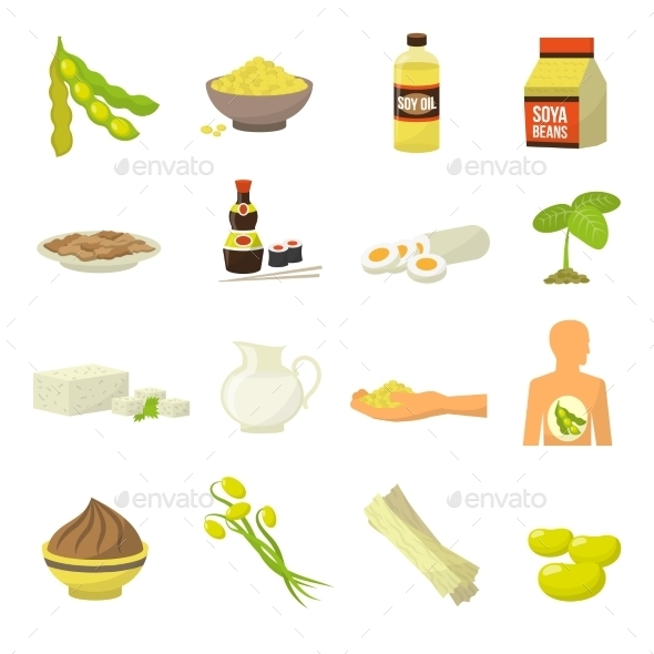 Soy Food Icons - Icons