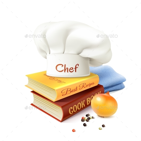 Chef And Cooking Concept  - Food Objects