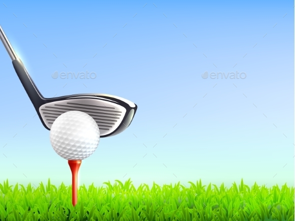 Golf Realistic Background  - Sports/Activity Conceptual