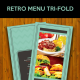 Retro Trifold Menu - GraphicRiver Item for Sale