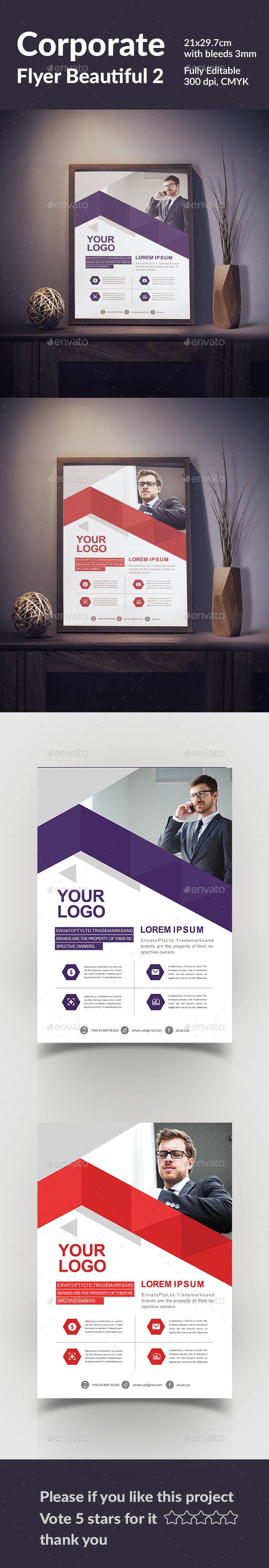 Corporate Flyer Beautiful 2 - Flyers Print Templates