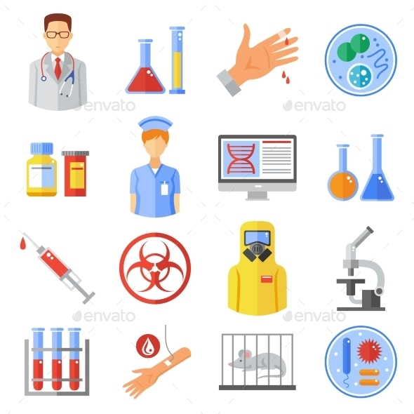 Microbiology Icons Set - Business Icons