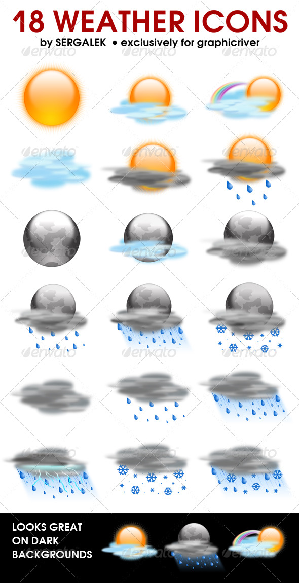 18 weather icons - Web Icons