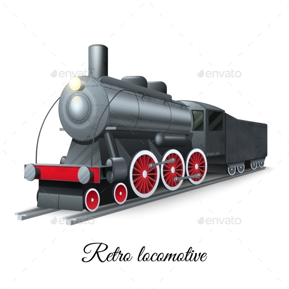 Retro Locomotive Illustration - Miscellaneous Vectors