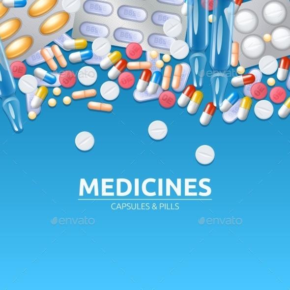 Medicines Background Illustration - Backgrounds Decorative